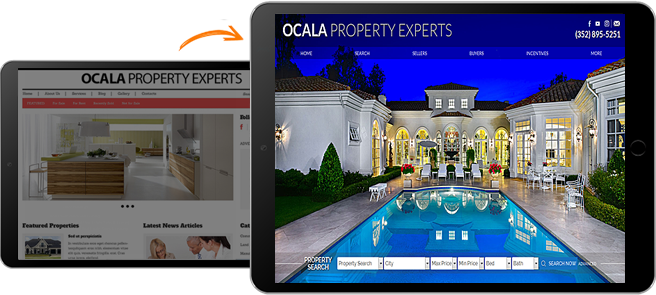 Real Estate Website Before & After
