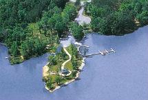 Eagles Harbor subdivision aerial view