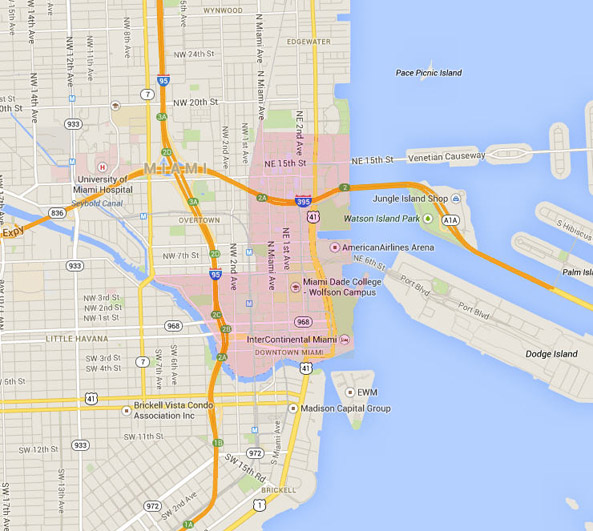 Downtown Miami Map