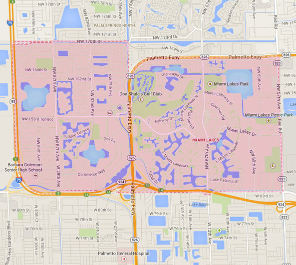 Miami Lakes Map
